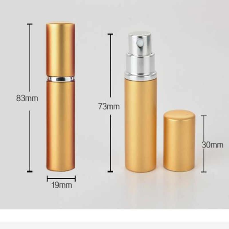 1 adet Mini 5ML taşınabilir alüminyum şarj edilebilir parfüm şişesi boş kozmetik kapları Atomizer seyahat aksesuarları