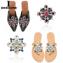 1pcs Shining Crystal Flower Bridal Wedding Party Shoes Accessories High Heels Shoes DIY Rhinestone Shoe Decorations