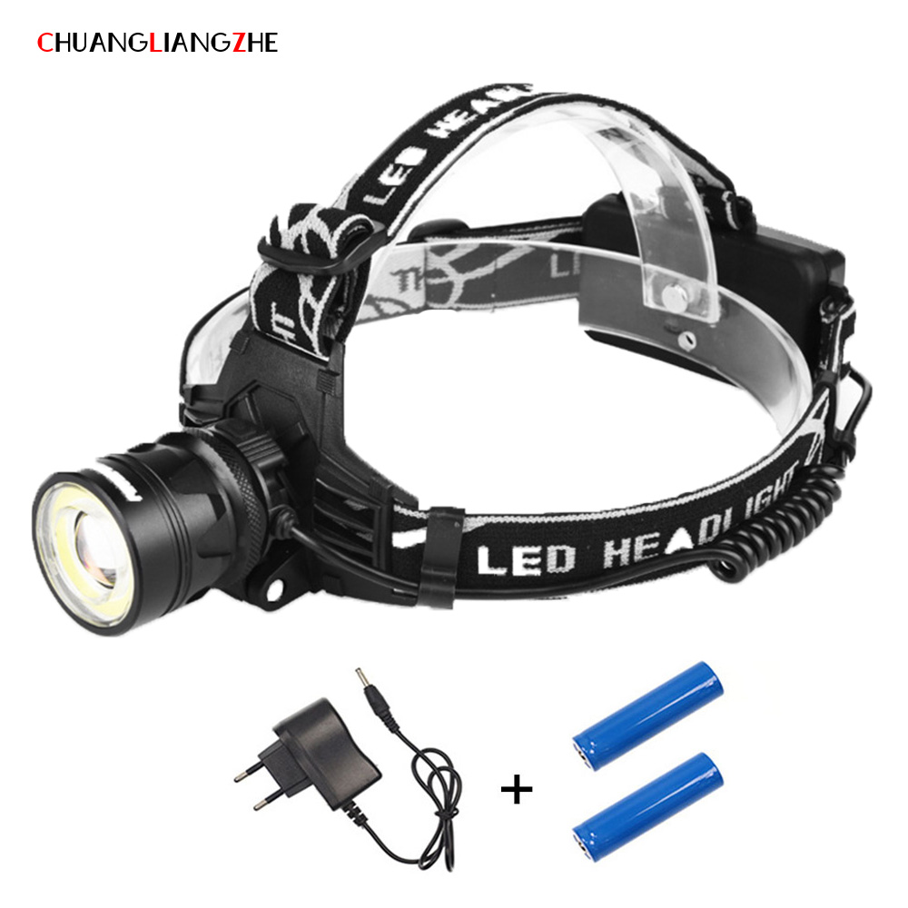 CHENGLIANGZHE SML-T6 Strong Head Lamp Outdoor Waterproof Work Light Zoom Long Shot Headlight 18650 Battery Headlights