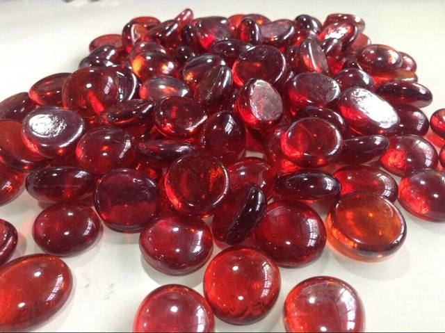 Online Shop Wine Red Glass Stone Burgundy Color Maroon Flat Beads