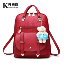 KLY 100% Genuine leather Women backpack 2016 New Fashionista schoolgirl Korean fashion style Backpack