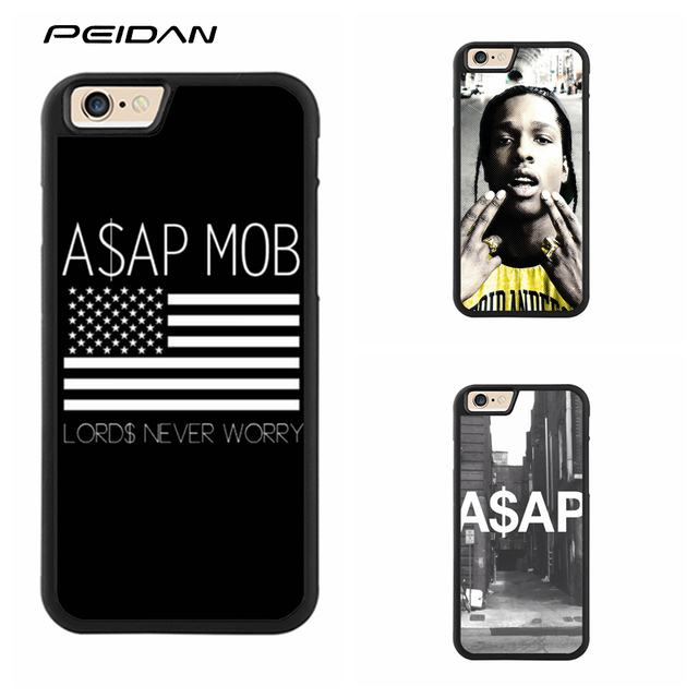 new style 735b5 112c2 US $4.99 |PEIDAN Asap Rocky Mob Lords Never Worry cover phone case for  iphone X 4 4s 5 5s 6 6s 7 8 6 plus 6s plus 7 plus 8 plus #qq20-in Fitted  Cases ...