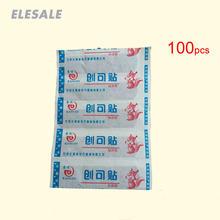 Pasta adhesiva médica antibacteriana para heridas, vendaje de tirita para botiquín de primeros auxilios y Kit de emergencia, 100 Uds.