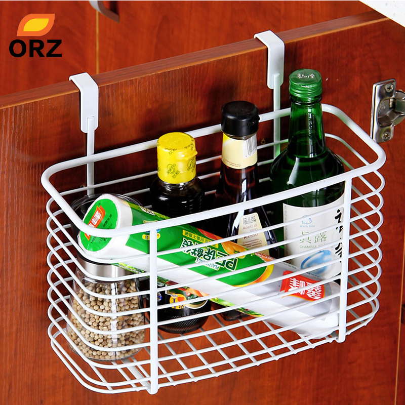 Baskets Above Kitchen Cabinets: ORZ Metal Over Door Storage Basket Practical Kitchen