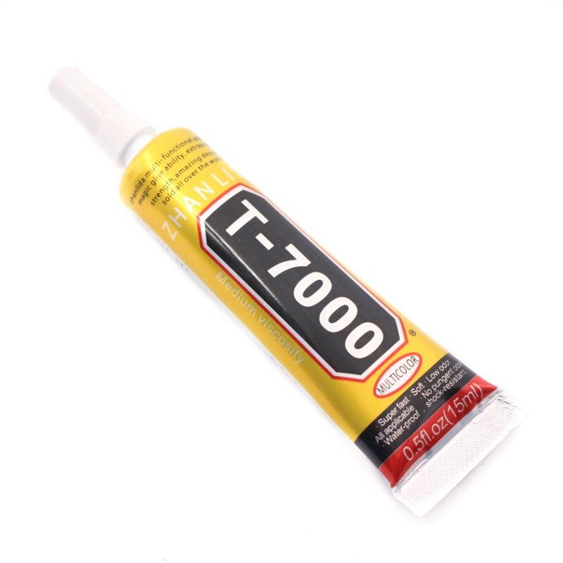 100 pz Forte Nuovo T-7000 Colla 15 ml Nero Super-Adesivo Telefono Cellulare Touch Screen di Riparazione Cornice Sigillante Fai Da Te gioielli T7000