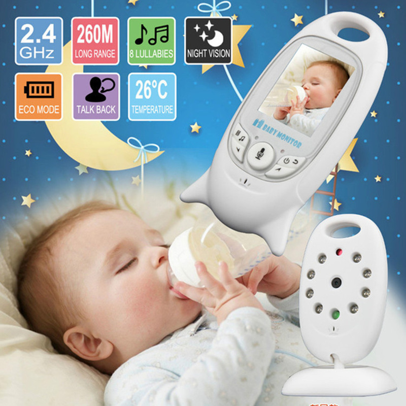 Wireless Video Baby Sleeping Monitor 2.0 Inch Color Security Camera 2 Way Talk NightVision IR LED Temperature Monitoring