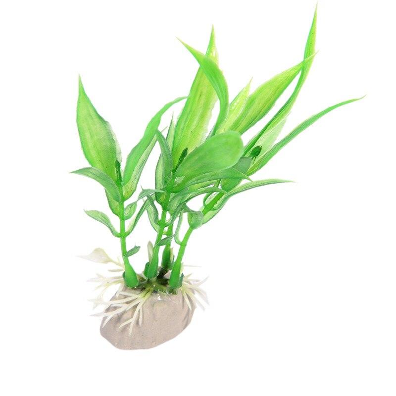 Vollter Ornament Flexible Kunstliche Aquarium Pflanze Wasser Grass Decor