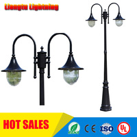 Barato Luz de calle lámpara de poste de jardín led iluminación de carretera villa Patio de aluminio