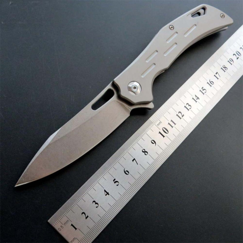 KESIWO pocket knife folding knife D2 blade TC4 titanium handle camping survival rescue knives ball bearing flipper EDC tools outdoor multifunction camping tools axe aluminum folding tomahawk axe fire fighting rescue survival hatchet