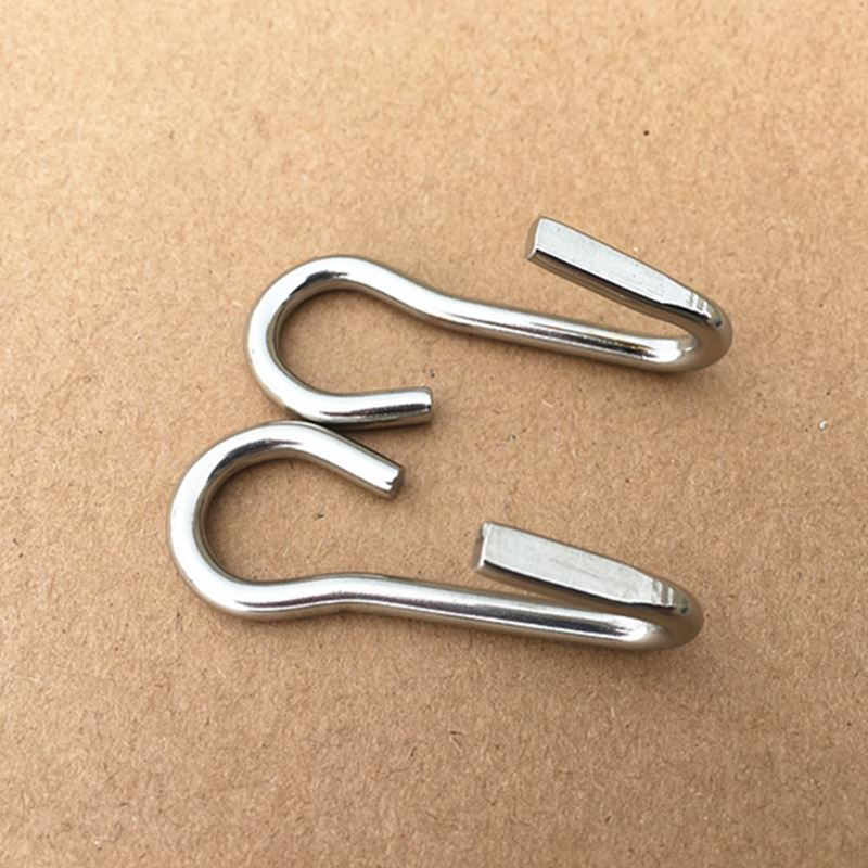 Stainless Steel Hooks Curb Chain Hook Double Hook With Left And Right Sides 10 Pairs Per Pack