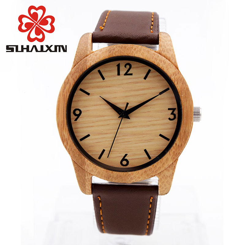 Watches Men Wooden Unique Vogue Mens Quartz Wristwatch Top Brand Luxury Watch Clock Male With Leather Strap Clock Relojes Hombre orkina relojes 2016 new clock mens watches top brand luxury herren cool watche for men with gift box montres