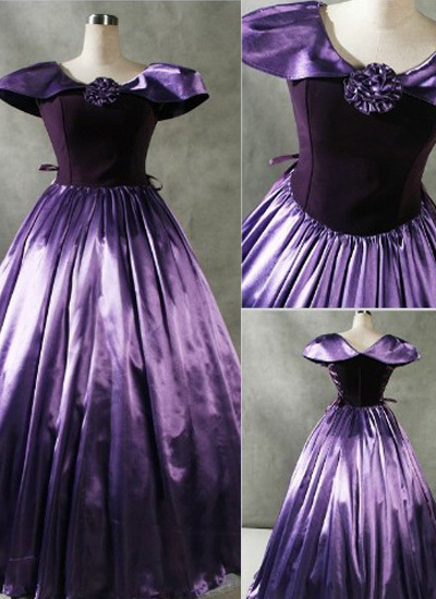 Wholesale Patrician Purple Gothic Victorian Dress