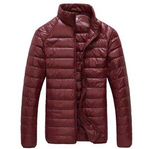 Image 5 - Veste coupe vent ultraléger et décontracté pour homme, manteau style coupe vent et parka, vêtement à chaud, portable, jacket dextérieur, taille 5XL — 6XL, collection automne et hiver, 2020