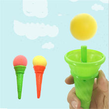 Anti Stress Newest Children Bounce Ball Outdoor Sports Toys Creative Sponge Plastic Ice Cream Novelty(China)