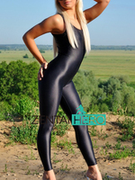 Free Shipping Wholesale NEW Black Color Lycra Spandex Gymnastics Costume Leotard For Women Sexy Zentai Catsuit 17011101