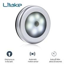 LumiParty Infrared PIR Motion Sensor 6 Led Night Light Magnetic Wireless Detector