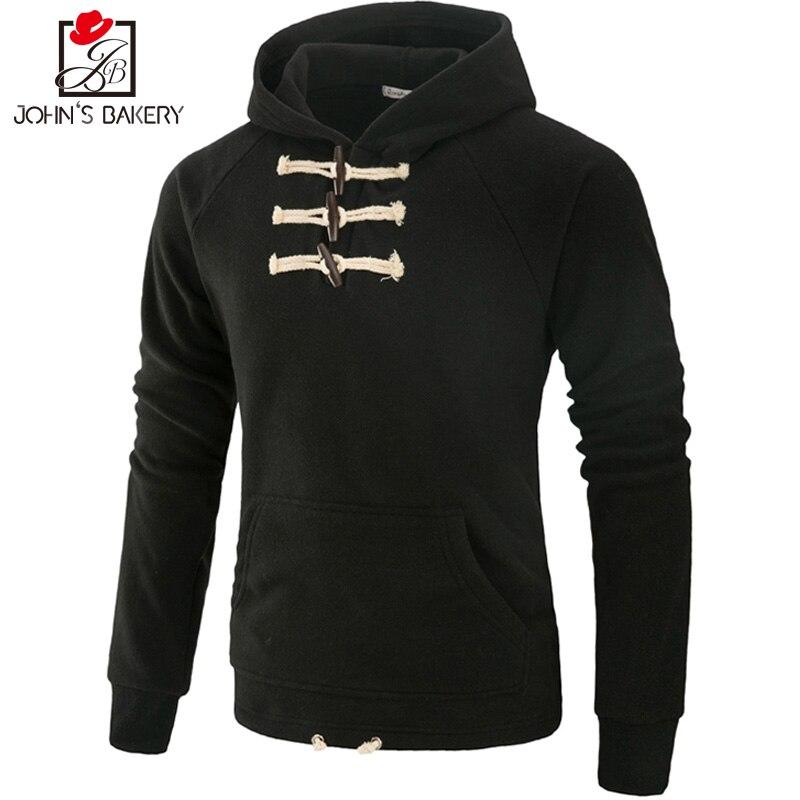 John S Bakery Brand 2017 New Hoodies Brand Men Solid Color Sweatshirt Male Hoody Hip Hop