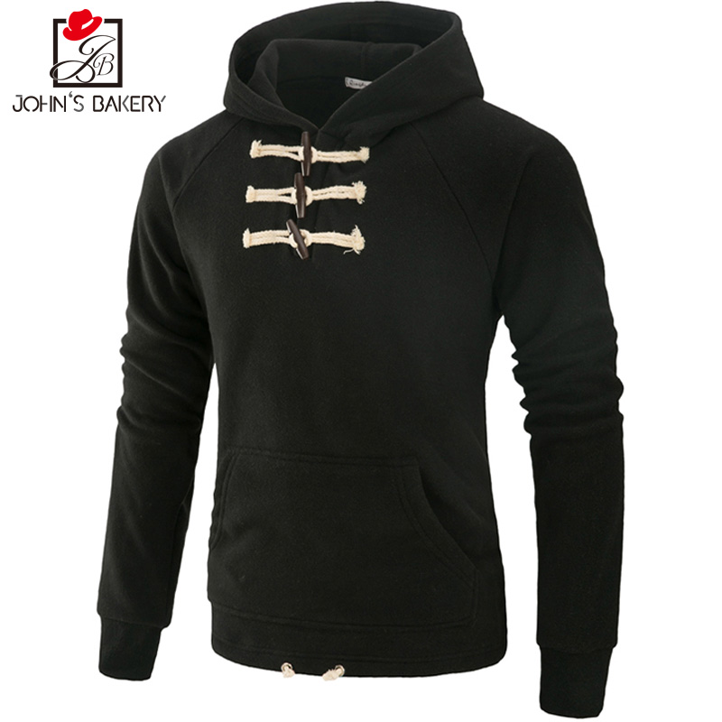 John S Bakery Brand 2017 New Hoodies Brand Men Solid Color Sweatshirt Male Hoody Hip Hop