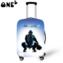 ONE2 Design 3D Printing Luggage Cover Apply to 22,24,26 Inch Suitcase fashion Luggage cover free shipping