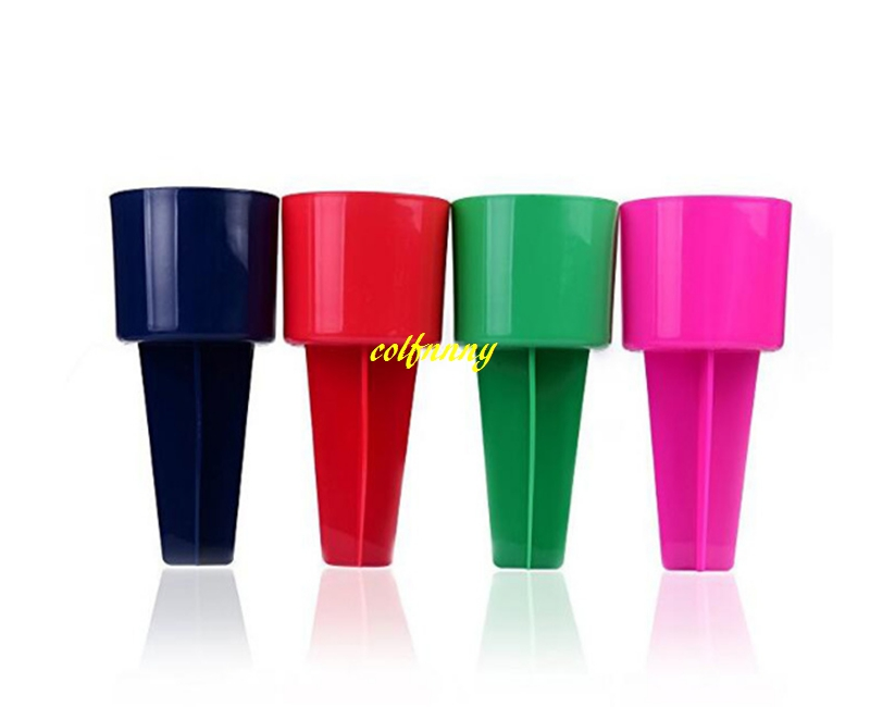 10pcs lot Free shipping 20 10 5cm colorful Beach Cup Holder beach spiker