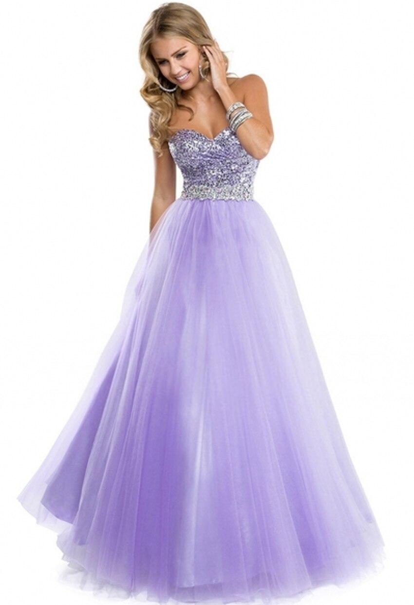 Luxe brillant Bling Sequin cristal longueur de plancher élégant Corset moderne lilas Quinceanera robes robes de bal