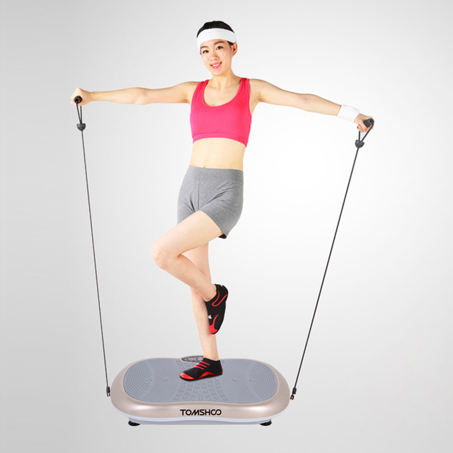 0a9210703 Touchscreen LCD Body message Vibration Platform Fitness Vibration Plate  Machine Workout Trainer Hips Muscle Weight Loss messager