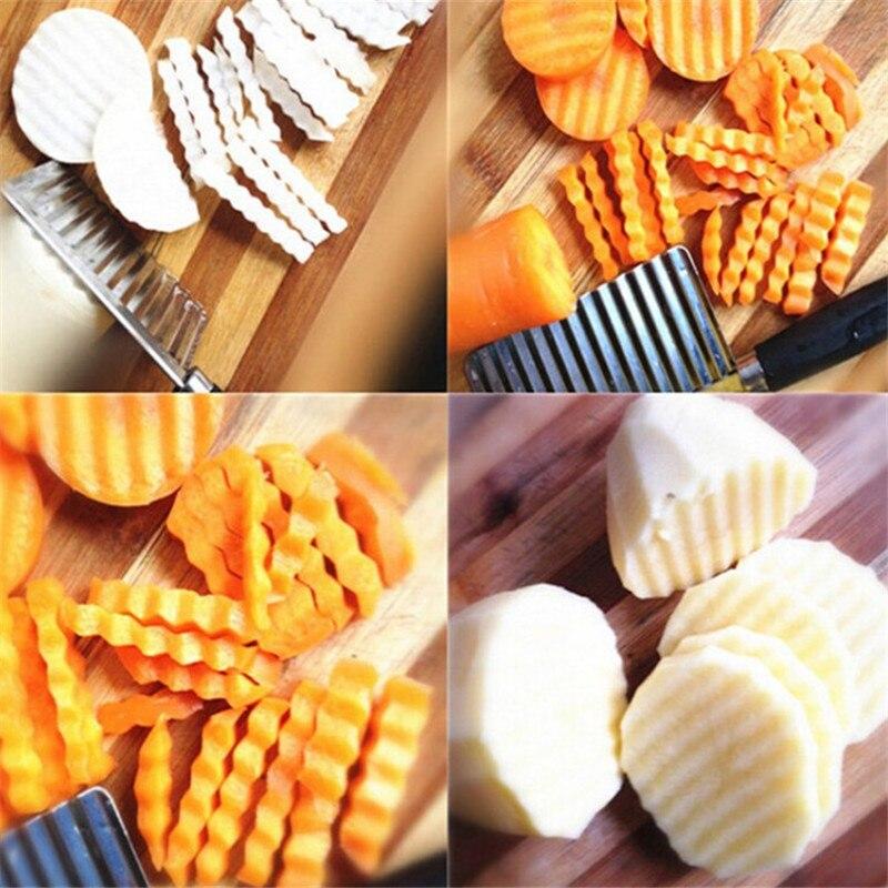 Novi nož od nehrđajućeg čelika Krumpir Chip Kuhinja Gadgets - Kuhinja, blagovaonica i bar - Foto 2