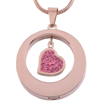 Heart in Circle Urn Necklace