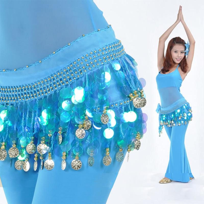 Belly Dance Costume Clothes Indian Dance Belt Waist Chain Hip Scarf Women Girl Dance,11 Colors