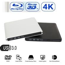 Maikou USB 3.0 4K Bluray External Optical Drive 3D Player BD-RE Burner Recorder DVD+/-RW/RAM Drives for Computer Windows7/8/10