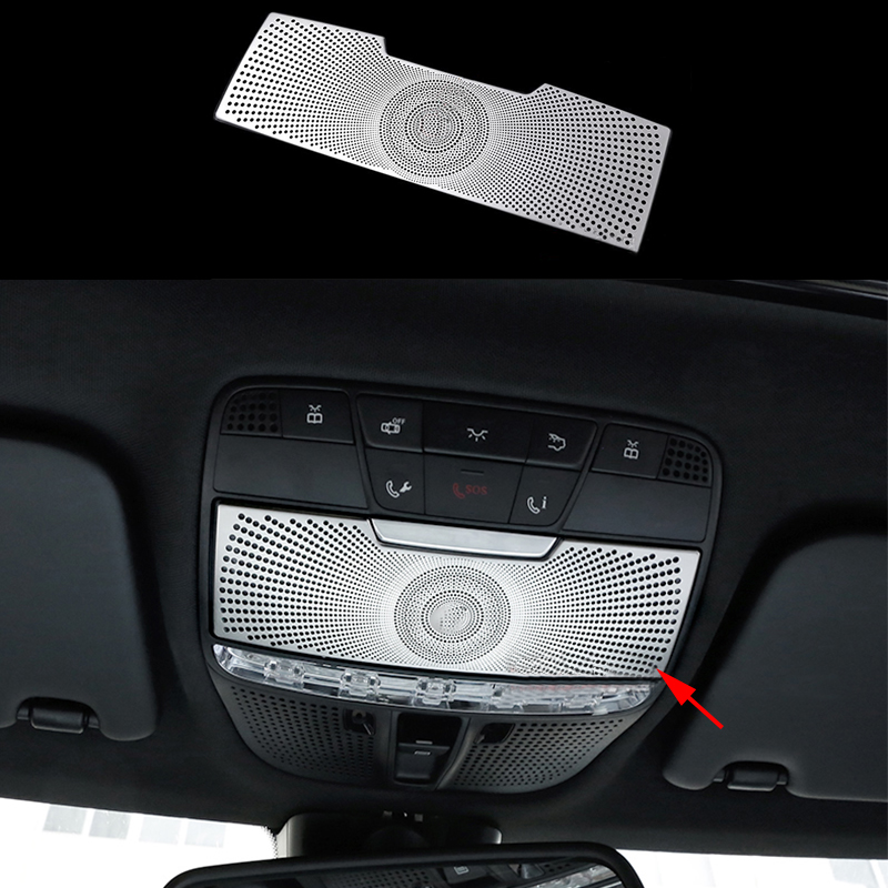 Front Reading Lamp Lights Cover Trims For Benz C Class W205 GLC X253 2015-2019