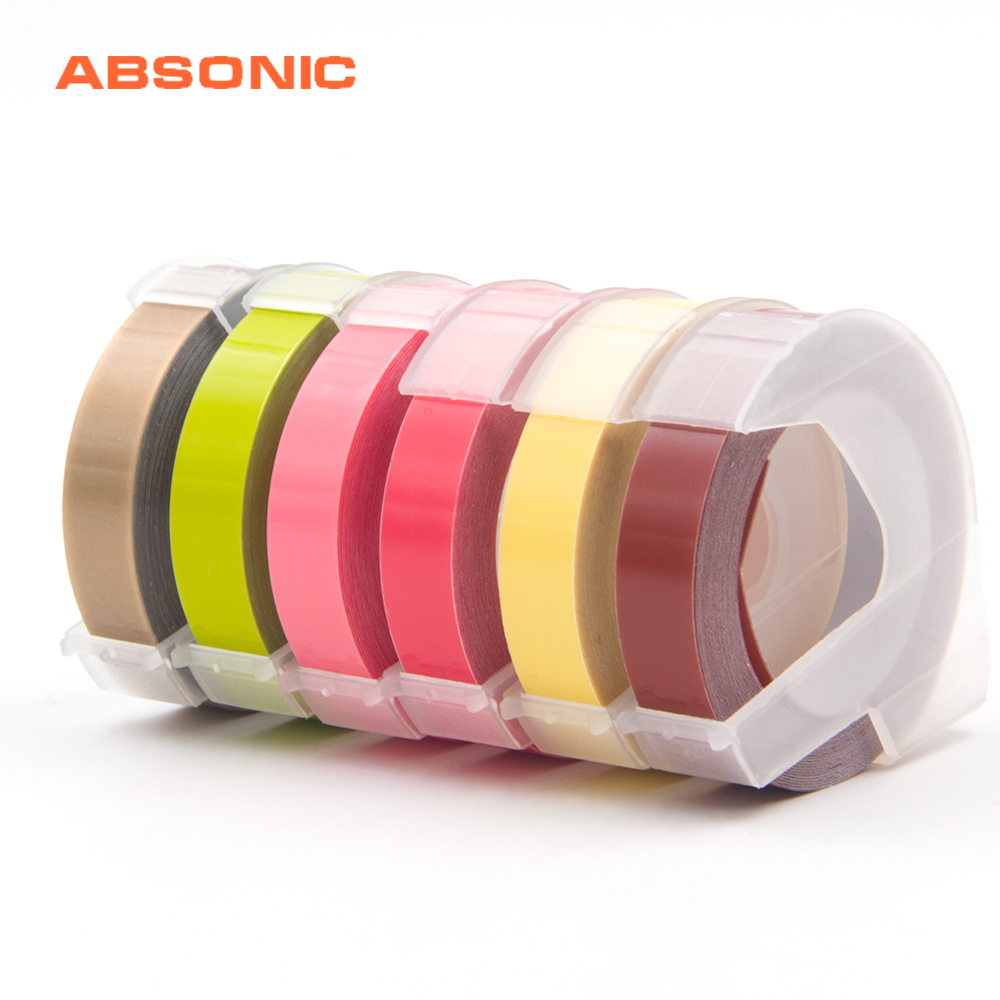 Office Electronics Absonic 16 Mixed Color 9mm*3m Dymo 3d Plastic Embossing Tape For Embossing Label Maker Pvc Dymo M1011 1610 1595 1540 Motex E101 Computer & Office