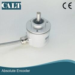 Wysoka precyzja interfejs SSI szary kod 12 bitów CAS60R12E10SGB IP67 mocowania wał pełny jeden obrót absolutny enkoder obrotowy