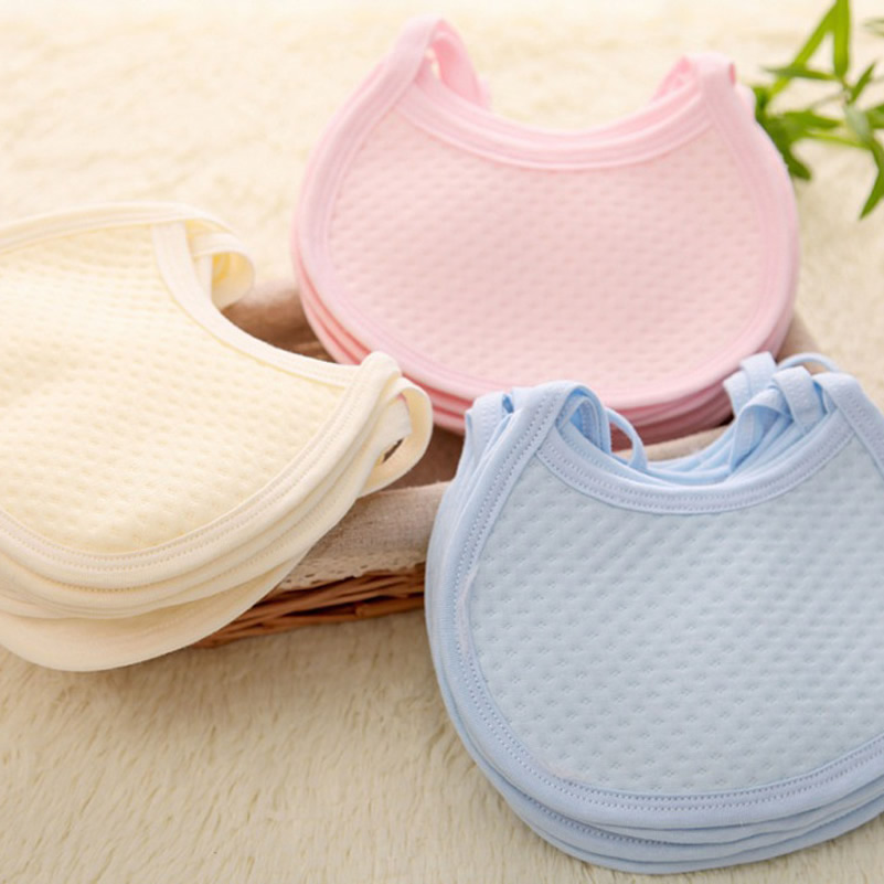 Baby Infant bibs 3 color soft cotton slobber towel bandana burp bloths towel baberos thick bavoir baby slabbetjes feeding stuff