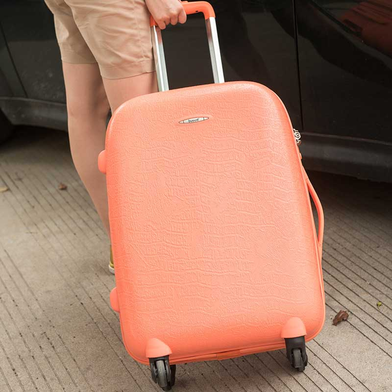 LeTrend Retro high quality PP Rolling Luggage Spinner Password Suitcase Wheels 20 inch Carry on Trolley