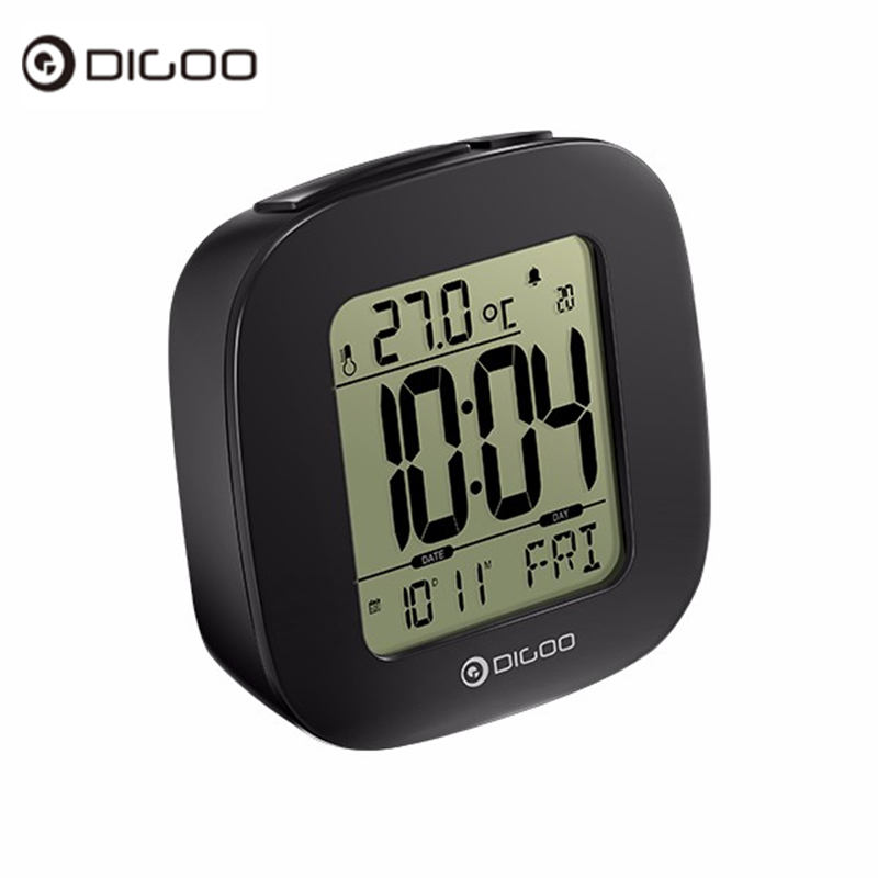 цена на Digoo DG-C1 Multifunctional Electronical Digital Alarm Clock Temperature Thermometer Weather Station Senor Clock Backlit LCD