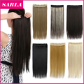 40 Colors Avaialble 24inch 60cm 140g Synthetic Clip In Hair Extensions Natural Hairpiece Straight Hair Extension  666