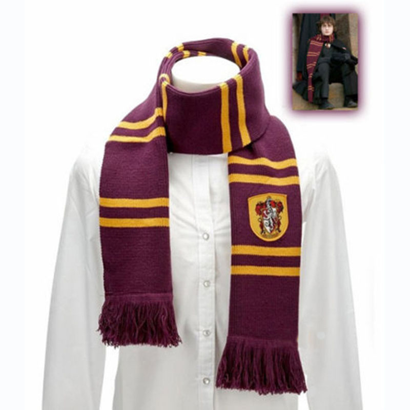 Magic School Scarves Anime Harri Potter Winter Neckerchief Gryffindor Cosplay Scarf Costumes For Women Men Accessories Wholesale