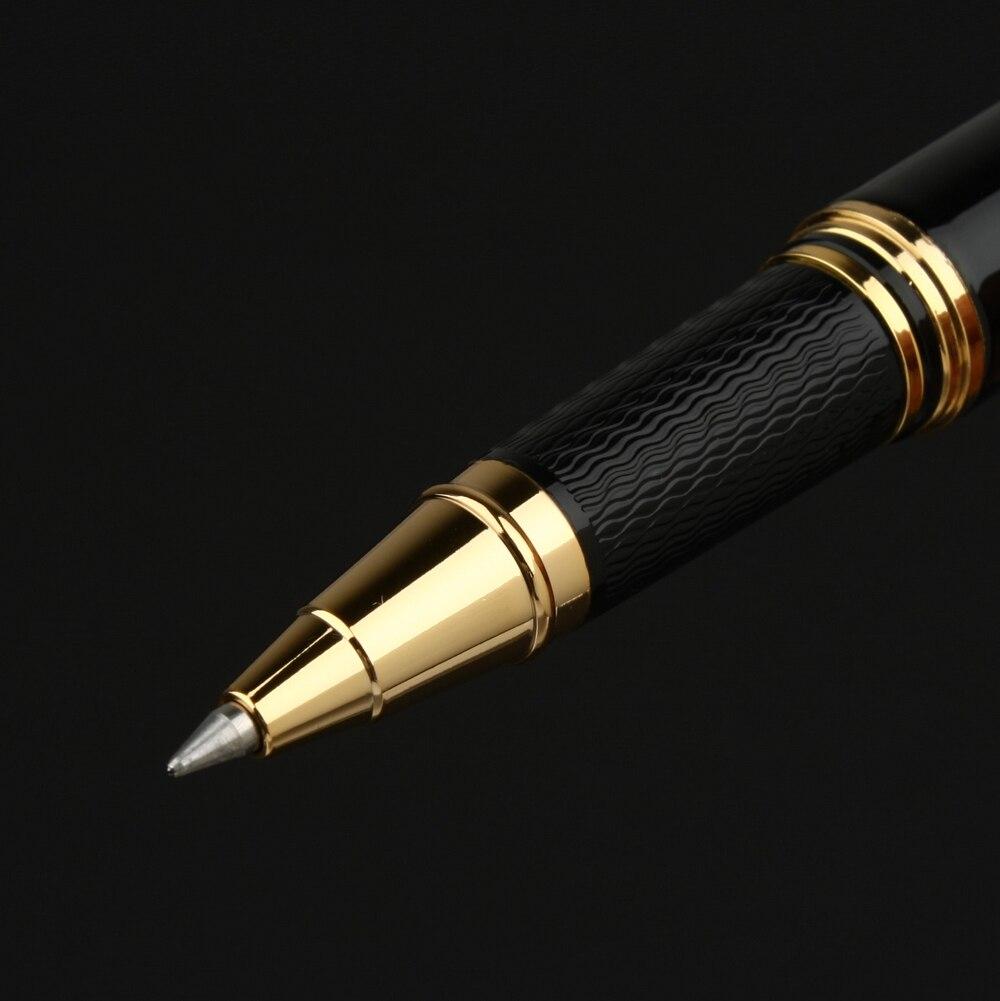 Image 3 - Pimio 917 luksusowe czarny ze złotymi Roller długopis z oryginalnym pudełkiem na prezenty 0.5mm czarny atrament napełniania długopis długopisyDługopisy żelowe   -