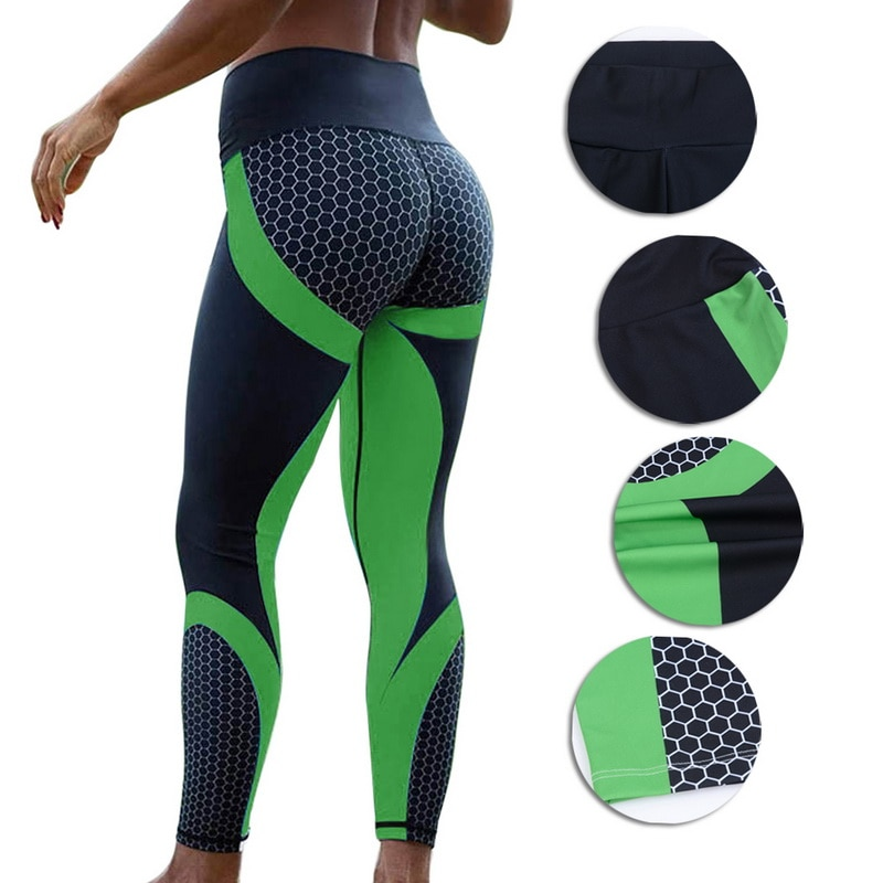 8 colors New Fitness Sport leggings Women Mesh Print High Waist Legins Femme Girls Workout Yoga Pants Push Up Elastic Slim Pants 43