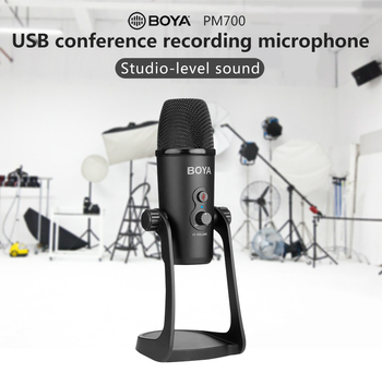 BOYA BY-PM700 Professional Condenser Sound Podcast Studio Microphone For PC Laptop Skype MSN karaoke Music Microfon Conferencing