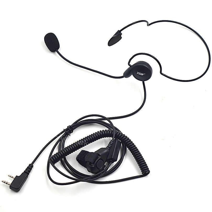 XQF 2 Pin Finger микрофон PTT гарнитура для Baofeng Kenwood Walkie Talkie UV 5R 888 S UV-B5 HYT Hytera Puxing PX-888K радио аксессуары