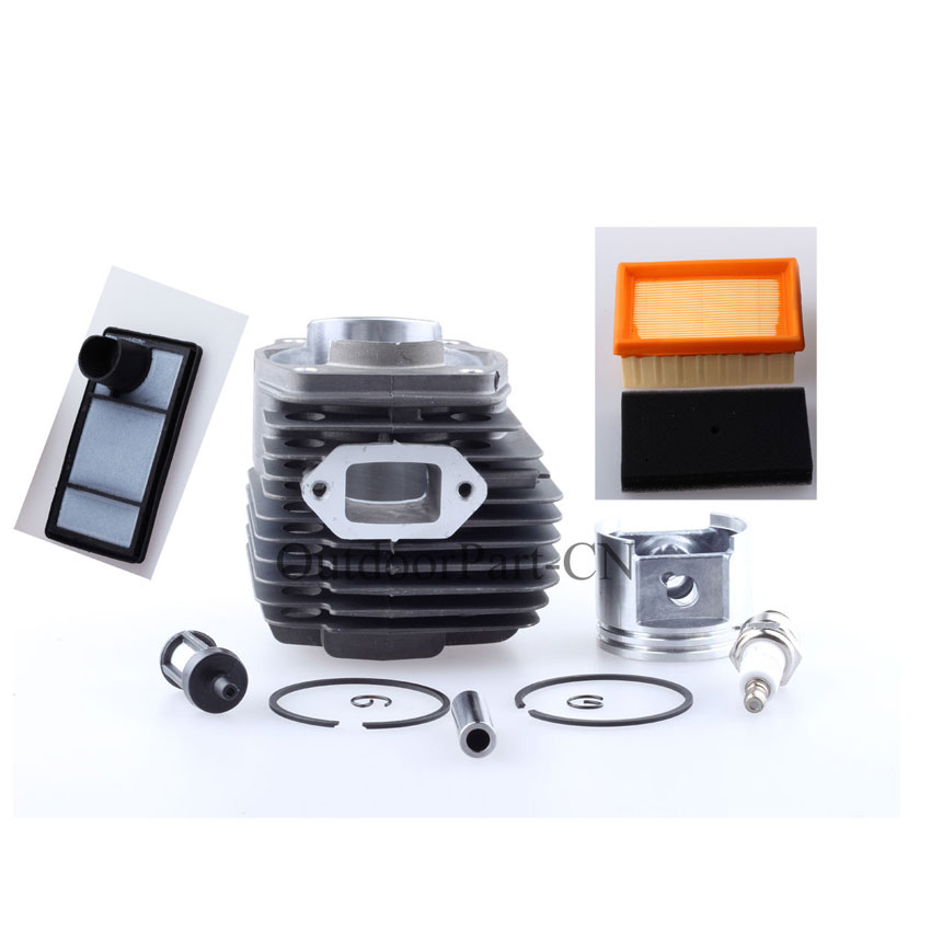49mm Cylinder W/ Fuel Air Filter & Piston Rebuild Kit for STIHL TS400 TS 400 Chainsaw Engine Free Shipping 42 5mm crankshaft cylinder piston kits for stihl 023 025 ms230 ms250 chainsaw air fuel filter oil pump
