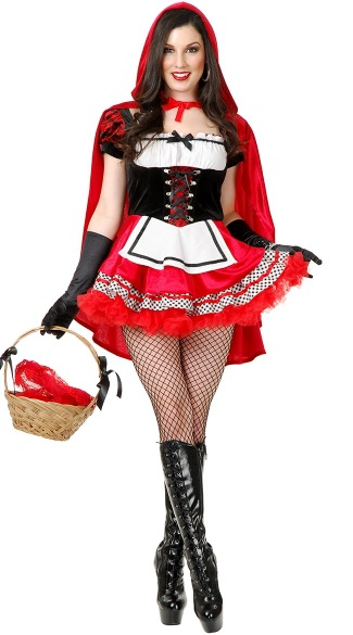 New Sexy Adult Little Red Riding Hood Costume Halloween Carnival Costume Cosplay Fantasia Party Fancy Dress