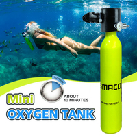 Diving Equipment Mini Scuba Diving Cylinder Scuba Oxygen Tank Adapter Snorkeling Underwater Breathing Accessory