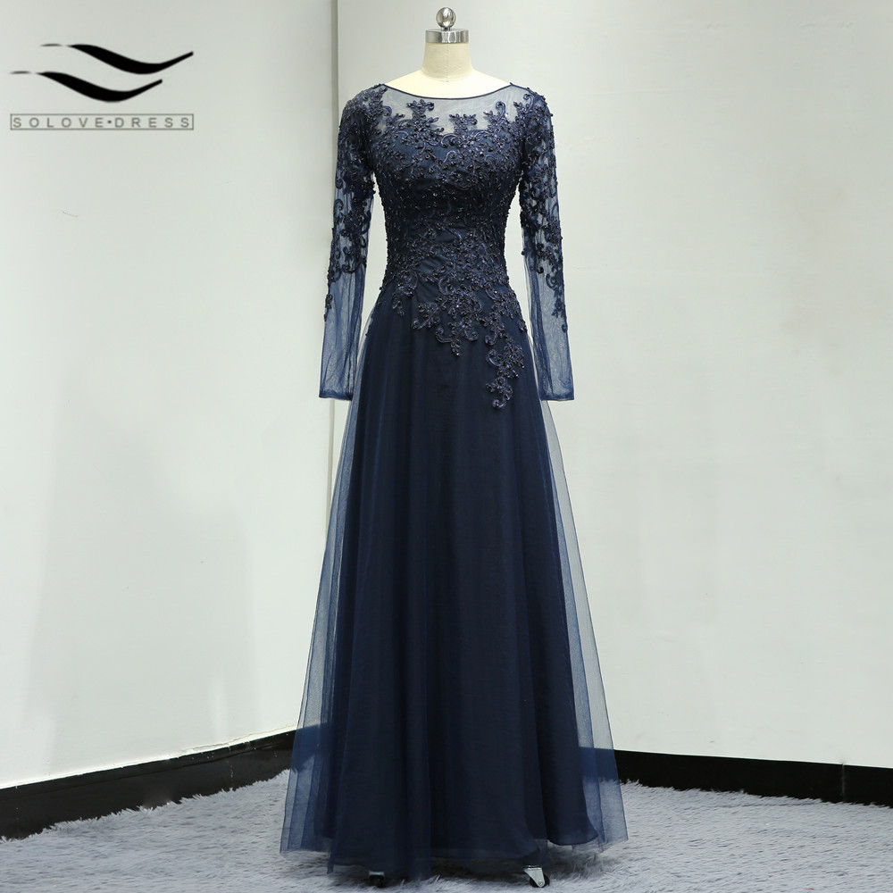 Saudi Arabia A-Line Long Sleeves Scoop Floor-Length Plus Size Mother of the Bride Dress Beading Sequins 2019 Evening dresses(China)