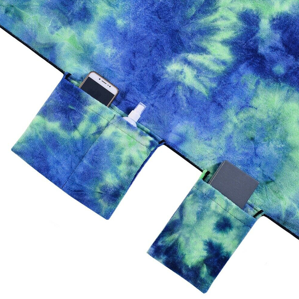 Image 3 - Portable Lounge Chair Cover Patio Pocket Outdoor Foldable Tie Dyeing Pool Bath Sun Beach Towels Bag Microfiber-in Sun Loungers from Furniture
