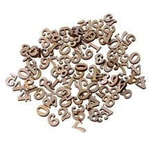 100 шт деревянные украшения с номерами 0-9 15 мм для скрапбукинга, рукоделия