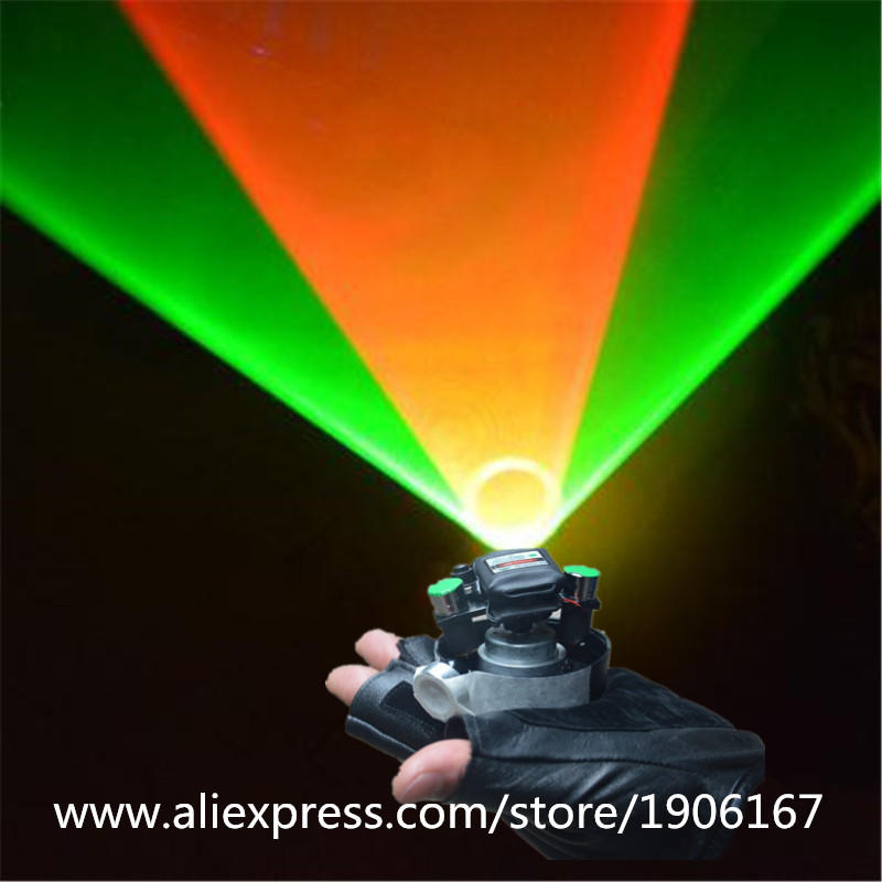 New Green Red Swirl Laser Gloves Vortex Effect Stage Laser lighting Gloves With 6 Pcs Lasers Laserman show gloves