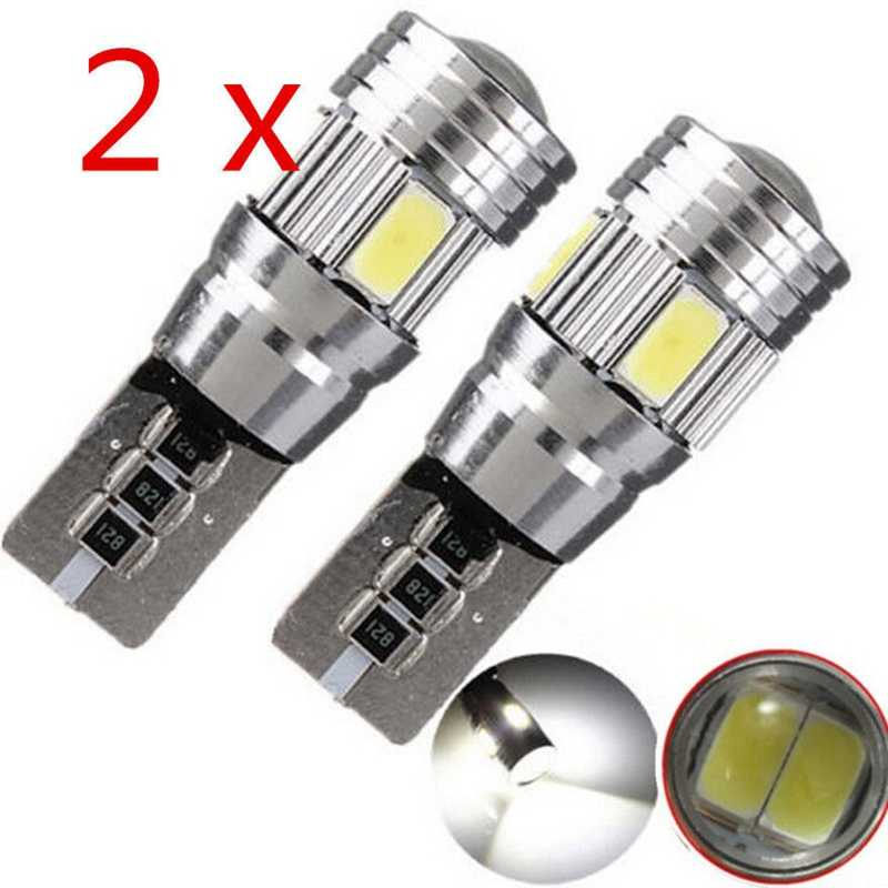 2PCS T10 W5W 194 5630 LED Car bulbs 6 SMD HID CANBUS ERROR FREE Car Side Wedge Light  License Plate Light Ceiling Lamp